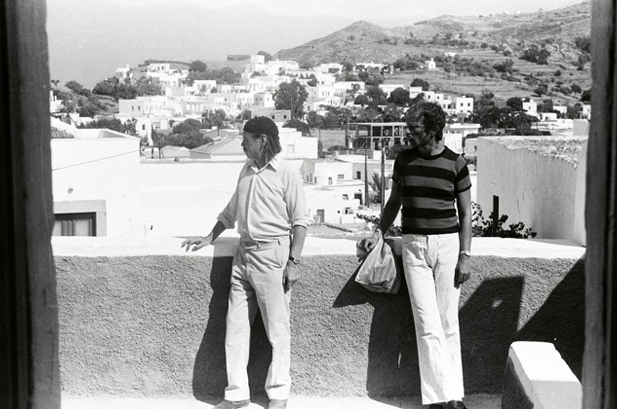 Franz West and Otto Kobalek, Venice—Patmos, 1977 (Photo: Freddie Jellinek)